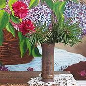 Винтаж handmade. Livemaster - original item Brass vase, handmade, vintage. Handmade.