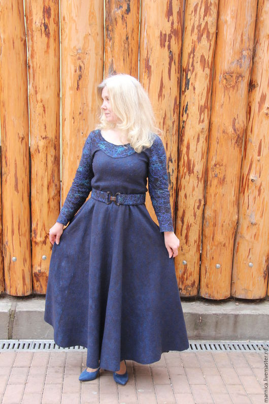 """Платья ручной работы. Ярмарка Мастеров - ручная работа. Купить Валяное платье """"Бездна"""". Handmade. Платье ручной работы"""