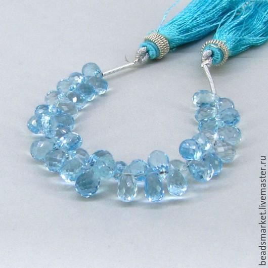 Для украшений ручной работы. Ярмарка Мастеров - ручная работа. Купить Бусины Голубой Топаз ( Sky-Blue ) капля. Handmade.