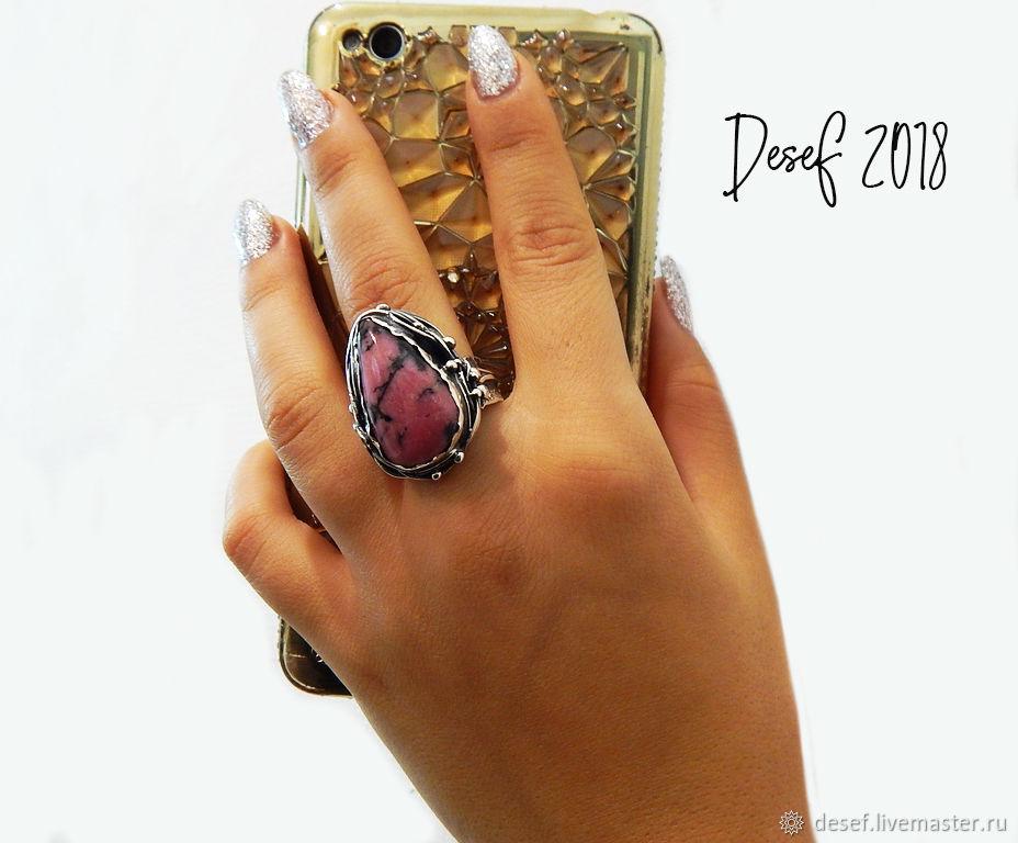 The ring 'SKIF' with rhodonite, Rings, Kurgan,  Фото №1