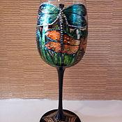 Посуда handmade. Livemaster - original item Glasses: Dragonflies. Handmade.