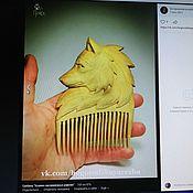 Гребни ручной работы. Ярмарка Мастеров - ручная работа Гребни: гребень волчица. Handmade.