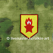 Материалы для творчества handmade. Livemaster - original item patch PIONEER STAR WITH a FLAME (arm). Handmade.