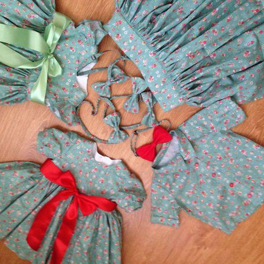 """Одежда для мальчиков, ручной работы. Ярмарка Мастеров - ручная работа. Купить Familylook """"Тройняшки"""". Handmade. Рубашка, платье летнее, для малыша"""