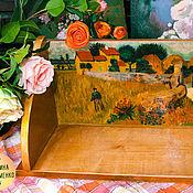 Для дома и интерьера ручной работы. Ярмарка Мастеров - ручная работа Полка деревянная. Ручная роспись. Ван Гог.. Handmade.