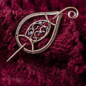 Украшения ручной работы. Ярмарка Мастеров - ручная работа Фибула, заколка для шарфа. Handmade.