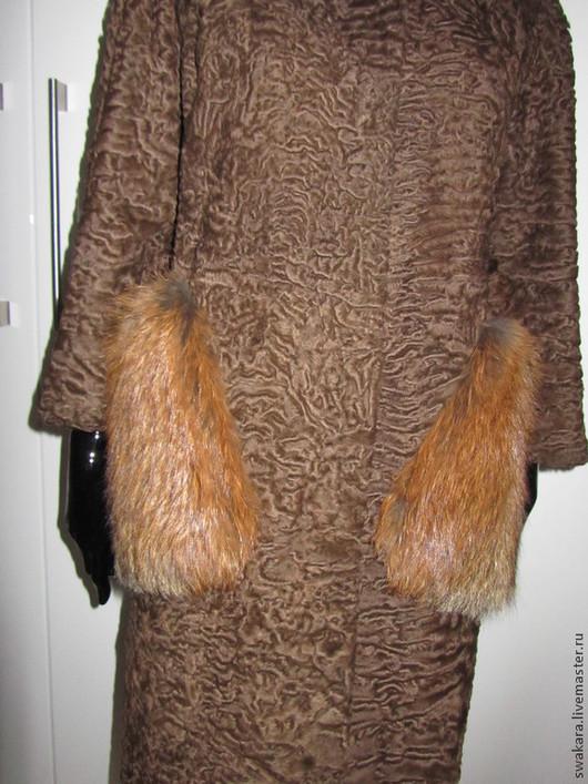 Верхняя одежда ручной работы. Ярмарка Мастеров - ручная работа. Купить Оригинальная шубка в стиле Шанель с карманами из лисы. Handmade.