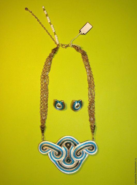 Комплект украшений из шелкового шнура `Morning Cleo`. Автор: Шестакова Юлиана.
