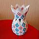 Вазы ручной работы. Ярмарка Мастеров - ручная работа. Купить Цветочная ваза. Handmade. Разноцветный, модульное оригами, ваза