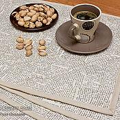 Для дома и интерьера ручной работы. Ярмарка Мастеров - ручная работа 4 Салфетки на стол, ланчматы. Газетные..... Handmade.