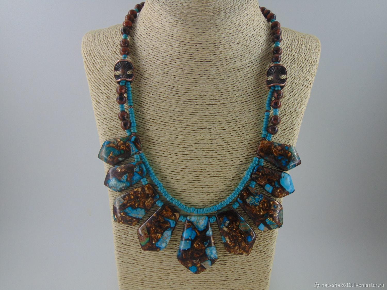 Necklace made of stones-variscite, aventurine.howlite 'La Boheme', Necklace, Velikiy Novgorod,  Фото №1