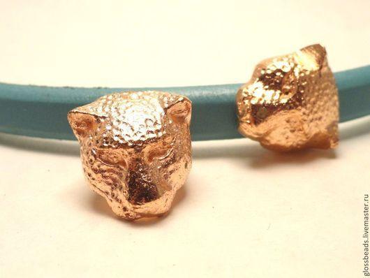 Для украшений ручной работы. Ярмарка Мастеров - ручная работа. Купить Металлическая бусина для браслета Regaliz  Розовая  пантера. Handmade.