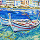 The picture with the boats 'Mixed Mediterranean' oil on canvas. Pictures. Multicolor Gallery. My Livemaster. Фото №6
