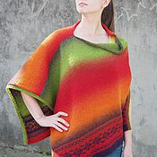 """Одежда ручной работы. Ярмарка Мастеров - ручная работа Пончо """"Перу"""". Handmade."""