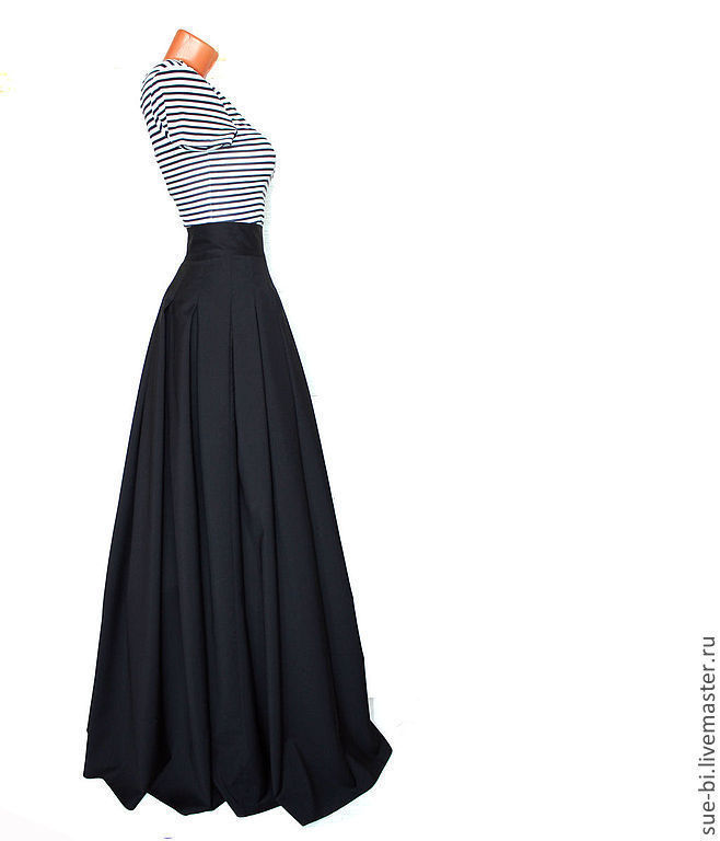 Черная шерстяная юбка
