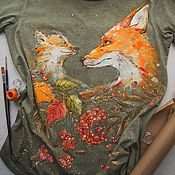 Одежда handmade. Livemaster - original item t-shirt the Tenderness of autumn. Handmade.