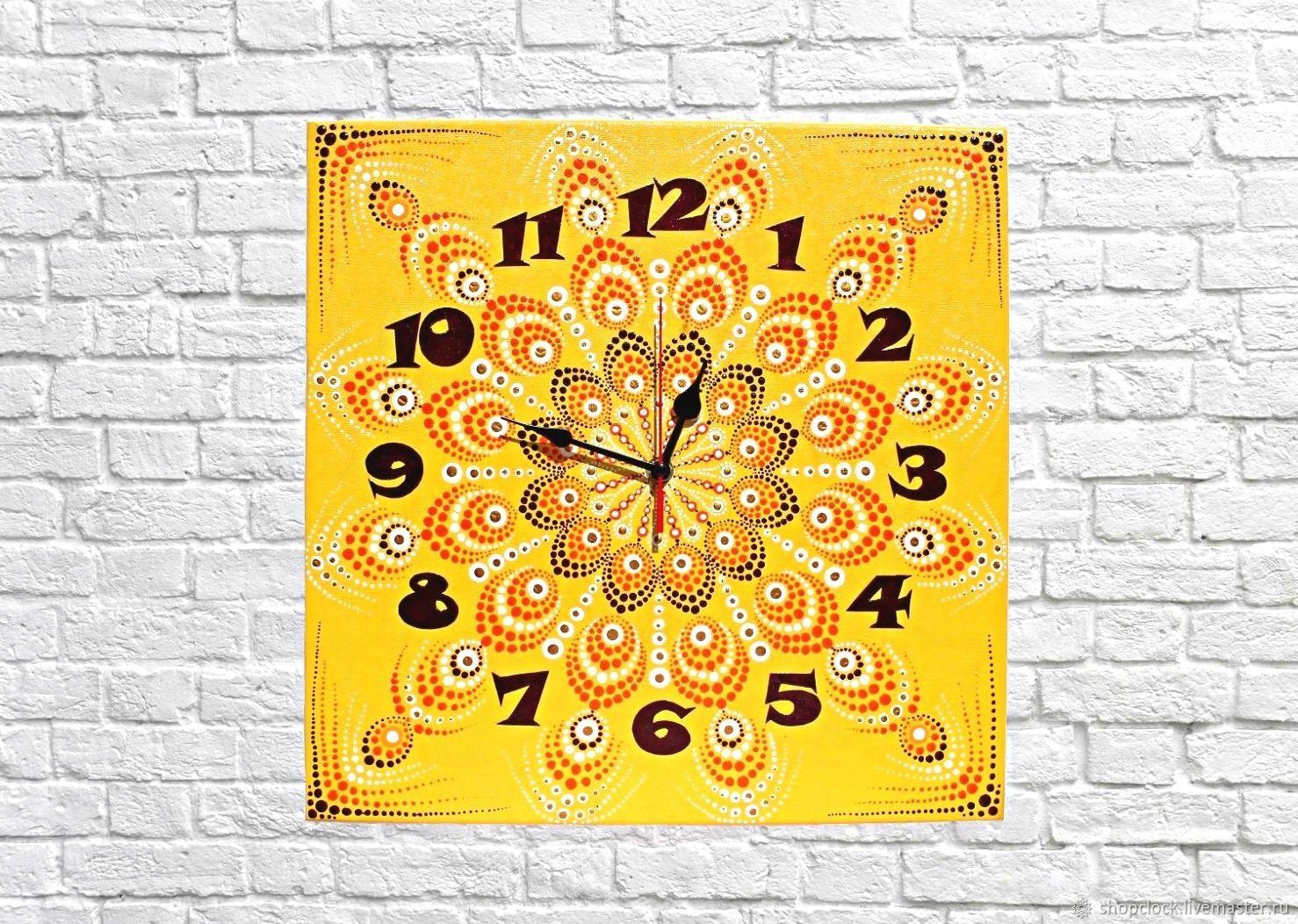 Large wall clock on canvas Mandala, Watch, Novosibirsk,  Фото №1
