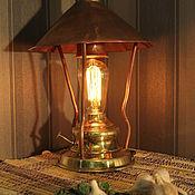 Для дома и интерьера ручной работы. Ярмарка Мастеров - ручная работа Настольная лампа «Старая керосинка». Handmade.
