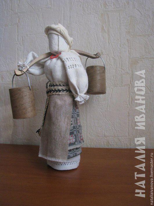 Народные куклы ручной работы. Ярмарка Мастеров - ручная работа. Купить Полтавка - кукла в национальном костюме. Handmade. Белый, коромысло