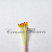 Материалы для творчества handmade. Livemaster - original item Stamens red and yellow teardrop. Handmade.