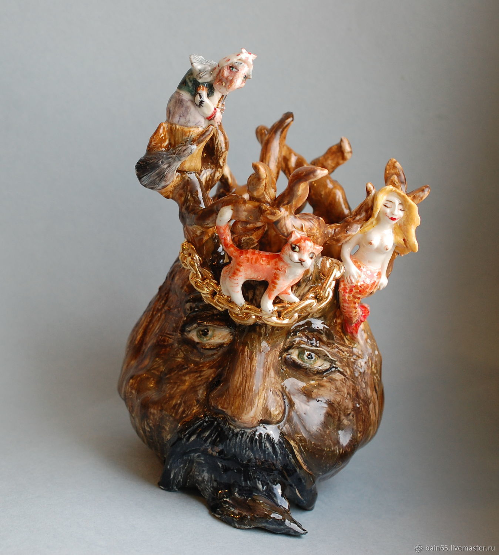 Lukomorye. Sculptural vase, Vases, Moscow,  Фото №1