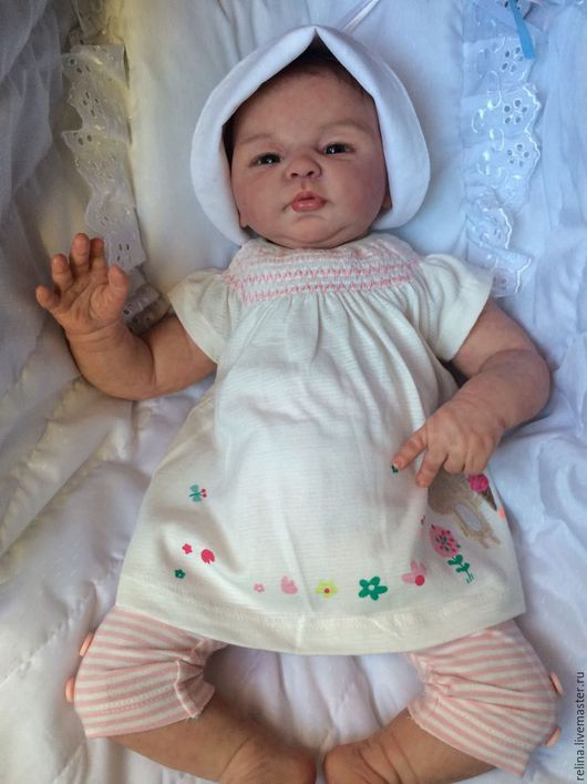 Куклы-младенцы и reborn ручной работы. Ярмарка Мастеров - ручная работа. Купить кукла реборн Машенька. Handmade. Бежевый