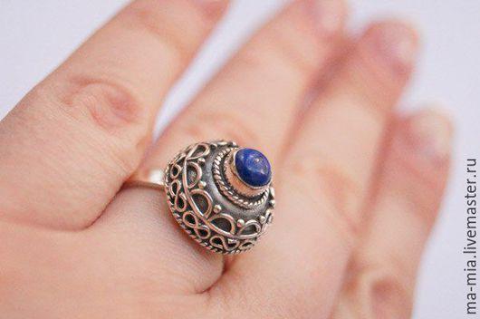Кольца ручной работы. Ярмарка Мастеров - ручная работа. Купить кольцо Лазоревый минарет. Handmade. Синий, лазурит натуральный