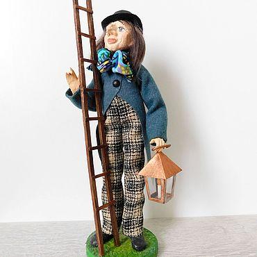 Куклы и игрушки ручной работы. Ярмарка Мастеров - ручная работа ФОНАРЩИК авторская кукла. Handmade.