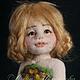 Коллекционные куклы ручной работы. Ярмарка Мастеров - ручная работа. Купить Авторская войлочная кукла Луговая Маша. Handmade. Зеленый