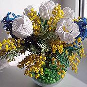 """Букет цветов из бисера """"Мелодия весны"""""""