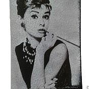 Канцелярские товары handmade. Livemaster - original item Passport cover Audrey Helburn. Handmade.