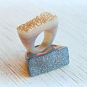 Украшения ручной работы. Ярмарка Мастеров - ручная работа Красивейшие кольца из оникса (агата) с друзой. Handmade.