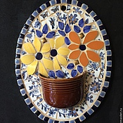 """Картины и панно ручной работы. Ярмарка Мастеров - ручная работа Мозаика из керамики """"Цветы"""". Handmade."""
