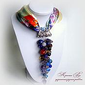 Украшения handmade. Livemaster - original item Necklace on a silk handkerchief. Handmade.