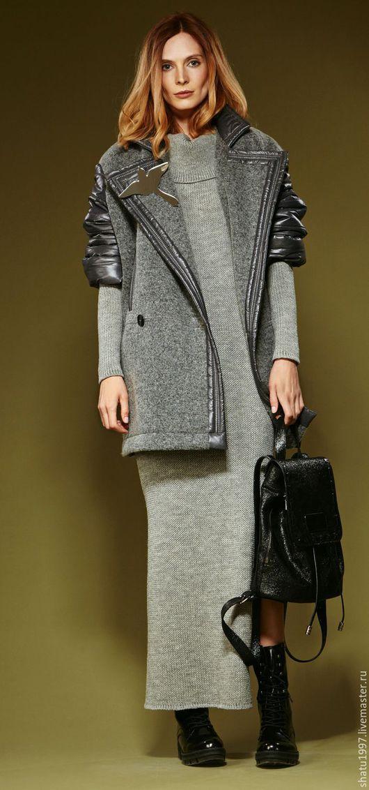 Верхняя одежда ручной работы. Ярмарка Мастеров - ручная работа. Купить Куртка. Ткань плащевка, валенная шерсть.. Handmade. рюкзак