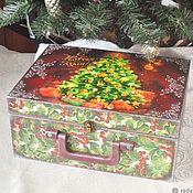 Сувениры и подарки handmade. Livemaster - original item Christmas decorations: Suitcase Christmas tree for toys. Handmade.