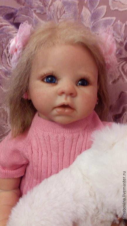 Куклы-младенцы и reborn ручной работы. Ярмарка Мастеров - ручная работа. Купить Куколка реборн Анжелика. Handmade. Бледно-розовый