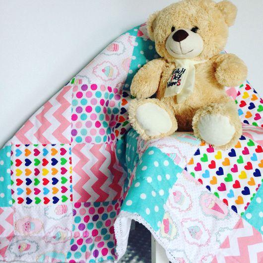 Для новорожденных, ручной работы. Ярмарка Мастеров - ручная работа. Купить Лоскутное одеяло. Handmade. Лоскутное одеяло, одеяло, для детей