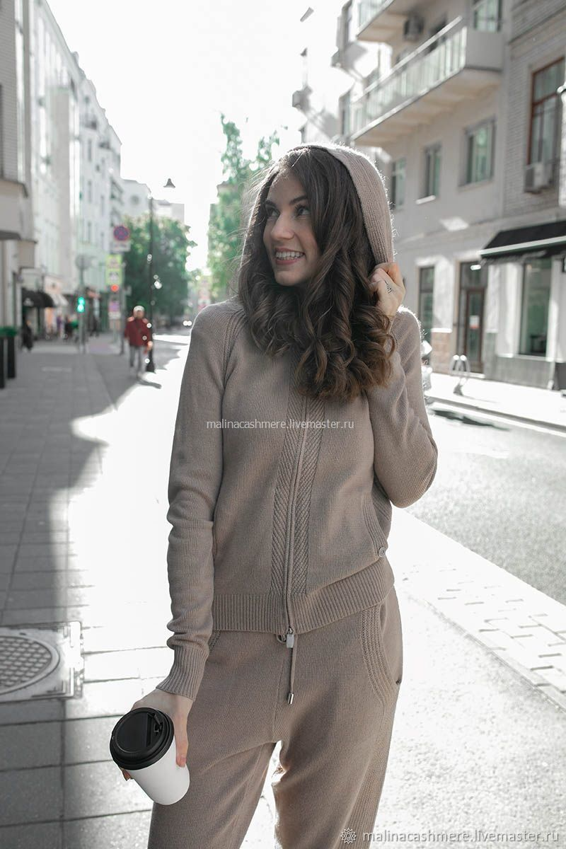 Cashmere suit with a hood color beige, Suits, Moscow,  Фото №1