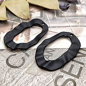 Материалы для творчества handmade. Livemaster - original item Suspension 35h22 mm metal painted. black (3432). Handmade.
