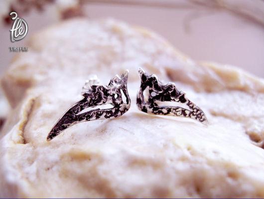 """Серьги ручной работы. Ярмарка Мастеров - ручная работа. Купить серьги пусеты """"Wings"""". Handmade. Vintage style, пусеты, errings"""
