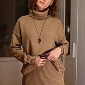 Костюмы ручной работы. Ярмарка Мастеров - ручная работа Костюмы: Юбка+свитер, 100% мериносовая шерсть. Handmade.