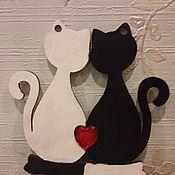 """Подарки к праздникам ручной работы. Ярмарка Мастеров - ручная работа """"Шахматные котики"""". Handmade."""