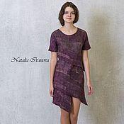 Одежда handmade. Livemaster - original item Eco-fashion, Beige Dress, wool dress,midi, winter dress, elegant dress. Handmade.