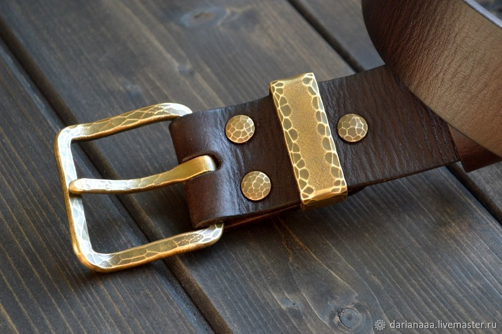 Men's leather belt 'Cannon' Bull-bugay, Straps, Sizran,  Фото №1