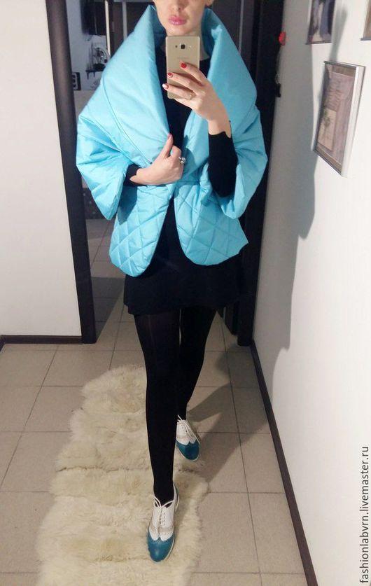 """Верхняя одежда ручной работы. Ярмарка Мастеров - ручная работа. Купить Куртка женская очень стильная """"Волшебная бирюза"""". Handmade."""