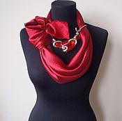 Украшения handmade. Livemaster - original item Scarf-necklace 576, Atlas. Handmade.