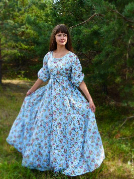"""Платья ручной работы. Ярмарка Мастеров - ручная работа. Купить ПЛАТЬЕ"""" ДИВА"""". Handmade. Голубой, Платье нарядное, платье на заказ"""
