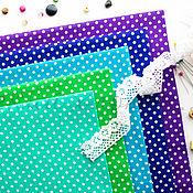 Материалы для творчества ручной работы. Ярмарка Мастеров - ручная работа (№57)Ткань бязь в горошек хлопок 100% для тильды, шитья и пэчворка. Handmade.