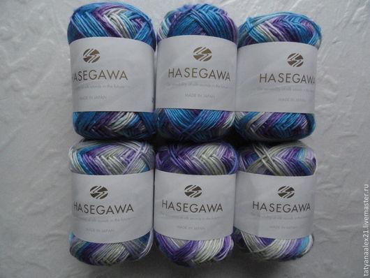 Вязание ручной работы. Ярмарка Мастеров - ручная работа. Купить Пряжа Hasegawa Utage - 3 № 7. Handmade. Зеленый